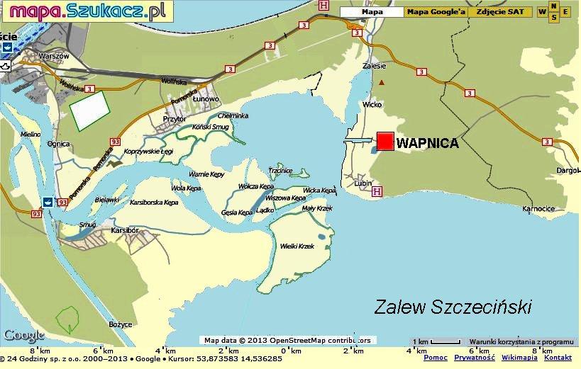 Wapnica Maly Port Zalewu Szczecinskiego Sailbook Pl